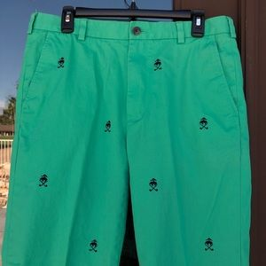 """Brooks Brothers """"346"""" Green with Allover Logo Men's Golf Pants W34 L32"""